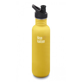 Klean Kanteen Classic Drinkfles Sport Cap 800ml, lemon curry matt
